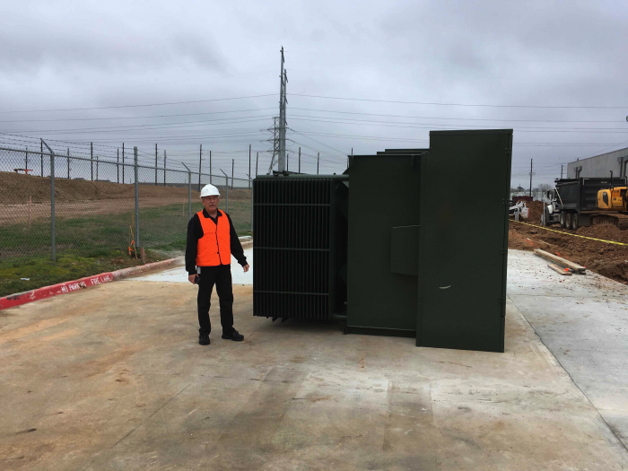 the transformers convert 33,000V 3phase power into 415V 3phase power